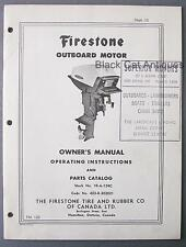 Original Vintage Firestone 30HP Outboard Motor Owners Manual/Parts List (FM122)
