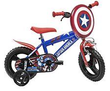 "Dino Captain America 12"" Mag Wheel Red Kids Boys Bike Bicycle"