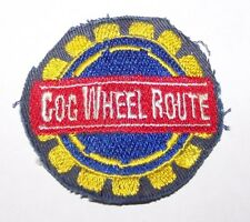VINTAGE COG WHEEL ROUTE RAIL TRAIN EMBROIDERED PATCH PIKES PEAK
