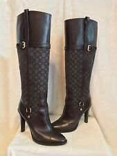 Louis Vuitton Brown Leather LV Monogram Tall Boot Shoes 39, 8, 8.5