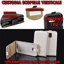 Custodia in Ecopelle verticale Flip con cover TPU per Samsung S6 EDGE BIANCO