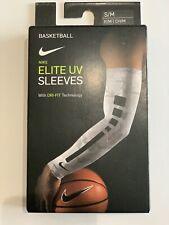 Nike Pro Elite Uv Shooter Shooting Sleeve Arm Armsleeve Basketball Nba White S/M
