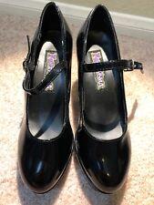 Funtasma Womens Mary Jane Black Patent Platform Cosplay Costume Heels Size 7