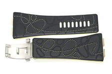 NIKE MERGE STEP DARK GRAY YELLOW REPLACEMENT RUBBER WATCH BAND WC0025-035