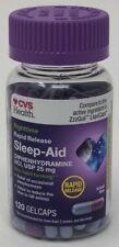 120-Gelcaps CVS Rapid Release Sleep Aid Diphenhydramine HCI 25mg Generic ZzzQuil