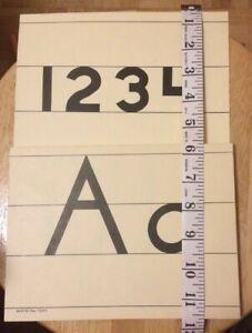 Vintage Alphabet Numbers Wall Border Teaching Home School Classroom Kids Room