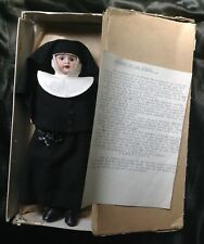 ANTIQUE GERMAN BISQUE ARMAND MARSEILLE NUN DOLL ROSARY BOX COMPOSITION BODY