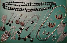 Schmuck Paket Sammlung schwarz Gothic Modeschmuck Konvolut