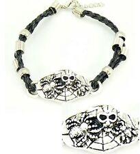 BRACELET tribal Homme, Femme acier, araignée, tête de mort, bijoux fantaisie
