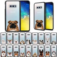 """For Samsung Galaxy S10E G970 5.8"""" Animal Design Black Bumper Clear Case Cover"""
