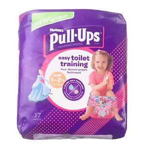 Lot 2 Huggies Disney Girls Age 1-2 1/2 Pull-Ups Easy Toilet Training Pants 34 Ct