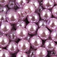 50pcs Light purple Round Czech Glass Pearl Spacers Beads 8mm