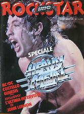 ROCKSTAR 6 1981 AC/DC Costello Lindsay Kemp Genesis John Lennon Sex Pistols