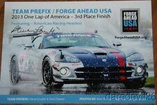 2013 Steve Loudin signed Team Prefix Dodge Viper SEMA One Lap America postcard