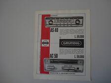advertising Pubblicità 1966 AUTORADIO GRUNDIG AS 40 / AC 50
