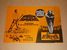 """""""Kingdom Of The Spiders"""" (William Shatner)/""""The Redeemer"""" 1978 UK Campaign Book"""