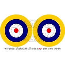 """RAF Royal AirForce Type A1 Roundel 3"""" (75mm) Sticker x2"""