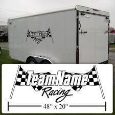 Checkered Flag Sticker, Race Team Checkered Flag Graphic,Race Team Flag decal