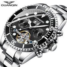 GUANQIN Mechanical Watch Men Skeleton Tourbillon style Role Automatic Watch Men
