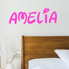 Personalised Disney Style Name Wall Art Sticker Decal Kids Children's Room Decor