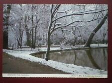POSTCARD OXFORDSHIRE WINTER BY THE CHERWELL