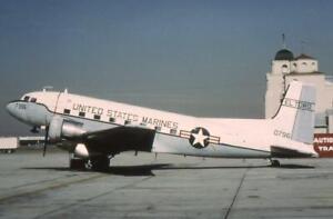35mm Aircraft Slide USM 50796 Douglas C-117D Skytrooper 1972 El Toro