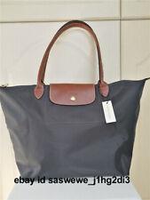 Authentic NEW Longchamp Le Pliage tote bag Nylon handbag Gunmetal Large L