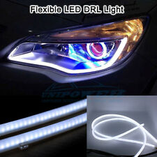 universal 2 x Flexible Audi Style Neon White Tube DRL LIGHT for INNOVA