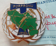 Insigne TRANSMISSIONS OPEX FORPRONU 403° BSL ORIGINAL French badge insignia