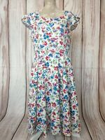 Hearts & Roses Floral Cotton Maxi Tea Dress Size 18
