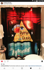 Fan Made Pyramid Club Neon Sign Door shower curtain East Village NYC