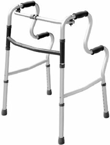 Lightweight Hi-Riser Walking Frame/Folding Zimmer Walker - Adjustable Height