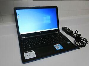 """HP Laptop 15-bs178cl Quad-Core i5-8250U 12GB RAM 2TB 15.6"""" HDMI DVD-RW (Blue)"""