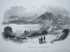 KILLIN & AUCHMORE PERTHSHIRE SCOTLAND ENGRAVING  c1820