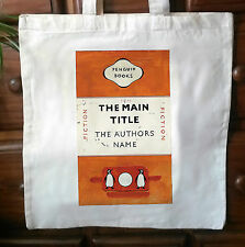Vintage Penguin Book Cover eco friendly cotton Tote Bag - Penguin classics