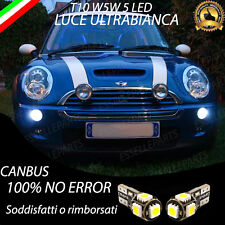 COPPIA LUCI POSIZIONE 5 LED MINI (R50, R53) ONE COOPER T10 W5W CANBUS NO ERROR