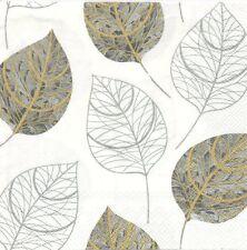 2 Serviettes en papier Décor Feuille Decoupage Paper Napkins Leaf Like