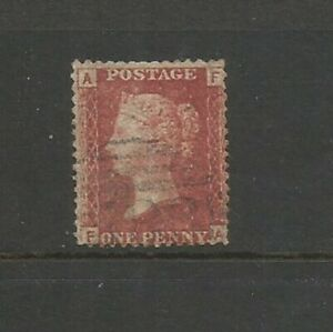 GB 1858 QV 1d Victoria Penny Red Plate 71  SG 43 Used(A F)