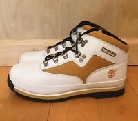TIMBERLAND EURO HIKER BOOTS WHITE WHEAT VINTAGE GS KIDS YOUTH SZ 4-7 Y  96957
