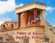 Greece - Crete - Palace of Knossos - Travel Souvenir Flexible Fridge Magnet
