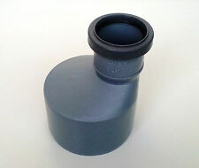 Reducer 110-50mm / 4''-2'' Sewer Waste Soil Pipe 110mm Offset Long Push-Fit Grey