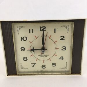 Westclox Vtg 60s USA Made Mid Century Modern Retro Lighted Dial Electric Clock