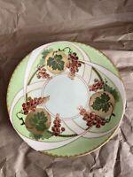 Antique JPL France J Pouyat Limoges Art Nouveau Hand Painted & Gilded Plate