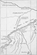 BRAZIL - MAP on the RIO Solimões or UPPER AMAZON - Etching 19th c.