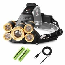 Plastic Camping & Hiking Headlamps with 5 Batteries