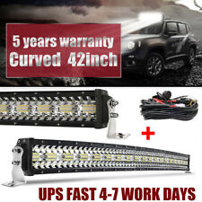 9D 42inch CREE 2400W Curved LED Light Bar Combo Offroad Driving Truck 4WD 40/44""