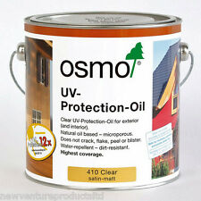 Osmo 410 UV Protection Oil Clear Semi-Matt 2.5 litre Protection 4 Exterior Wood