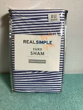 New ListingReal Simple French Riviera Euro Pillow Sham in Blue/White 26� X 26�