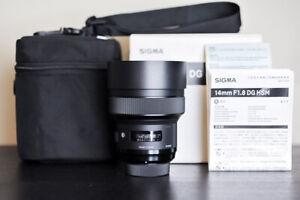 Sigma AF 14mm F/1.8 DG FX HSM Art Lens - For Nikon!