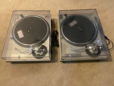TECHNICS 1200 MK2 (PAIR) WITH DUST COVERS - PROFESSIONALLY SERVICED